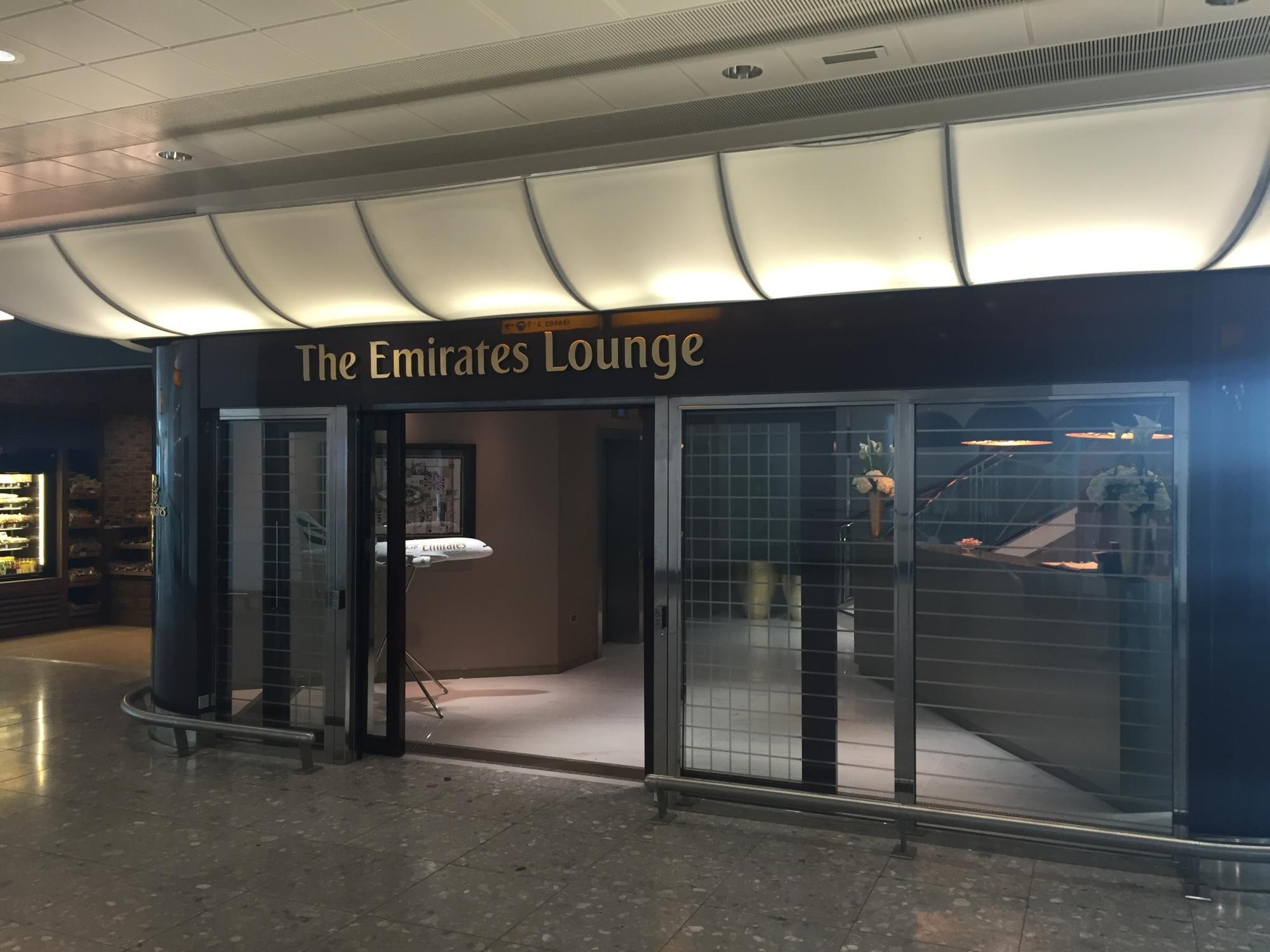 Heathrow T3 Emirates Lounge